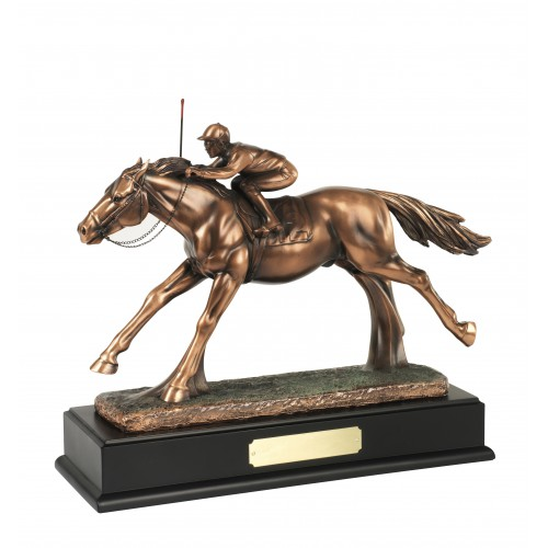 Bronze Plated Horse & Jockey Award - RW04