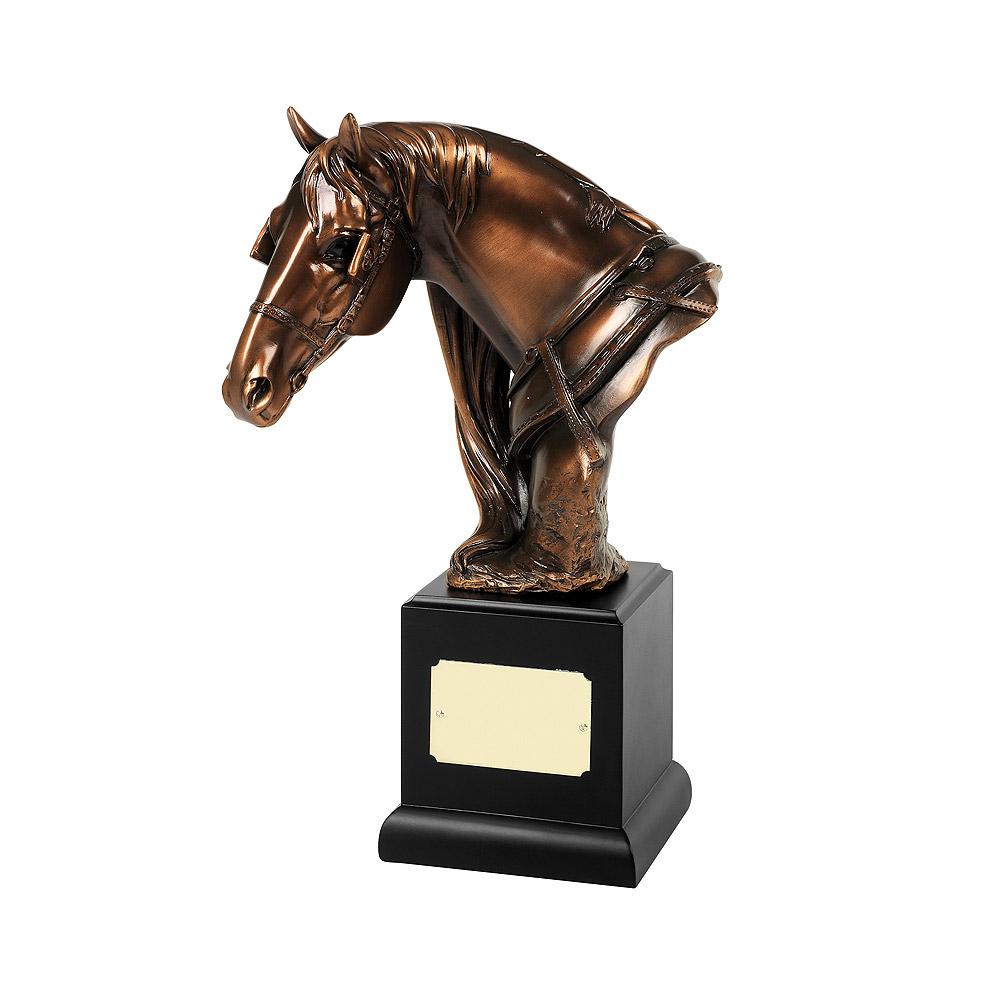 Bronze Plated Horses Head Award - RW08