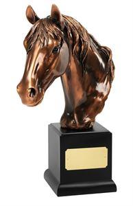 Magnificent Bronze Plated Horses Head Award - RW09