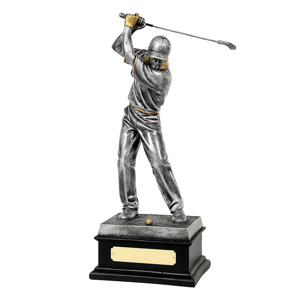 Male Golfer Silver & Gilt Trophy - RR019