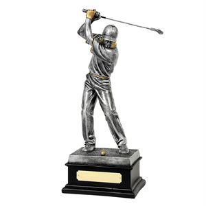 Male Golfer Silver & Gilt Trophy