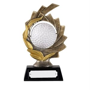 Spinning Golf Ball Antique Bronze Award - GX016A