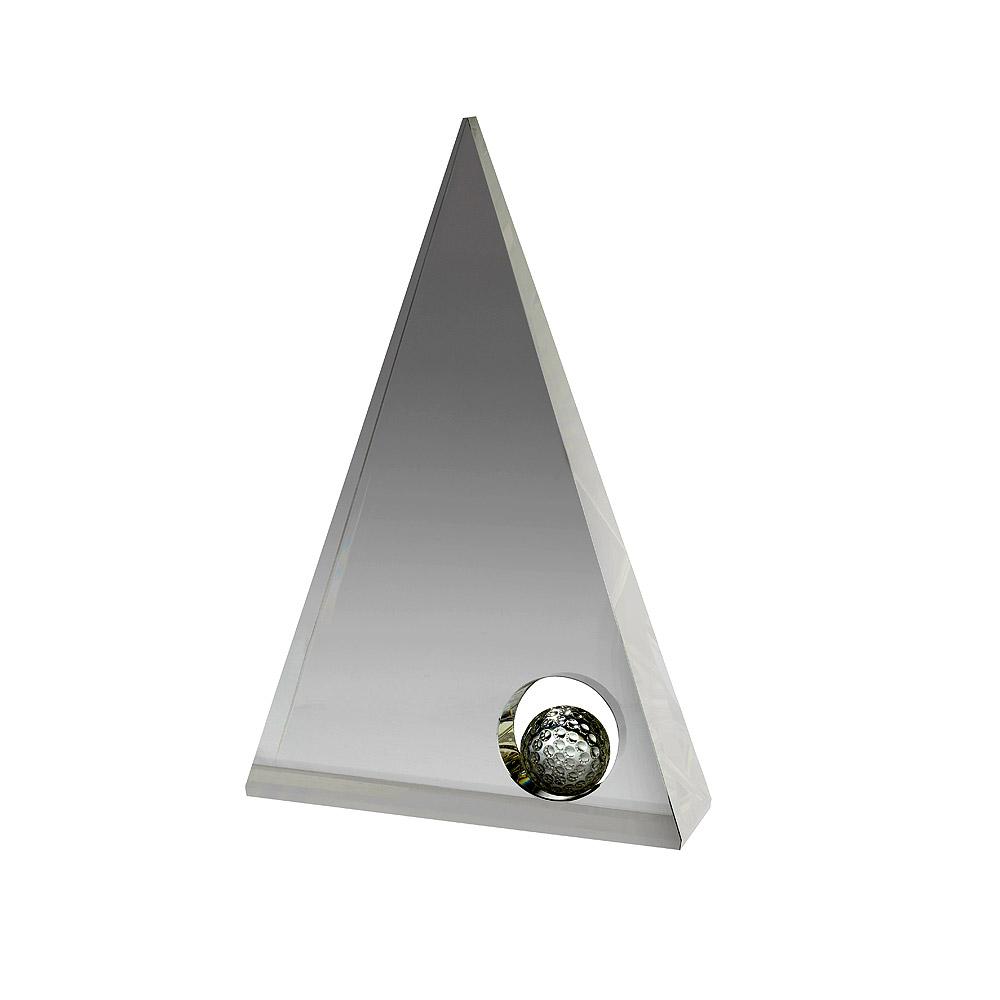 Clear Crystal Pyramid Golf Award - DC021