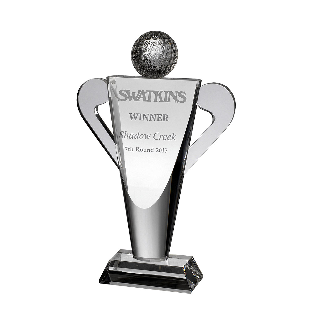Clear Crystal Golf Cup Trophy