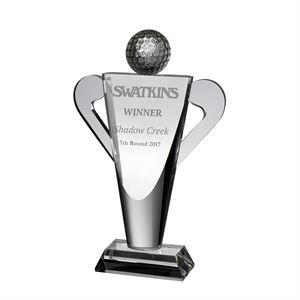 Clear Crystal Golf Cup Trophy - AC183