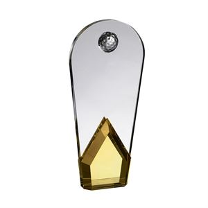 Gold Crystal Curved Golf Award