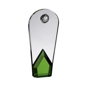 Green Crystal Curved Golf Award - AC191A