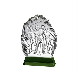 3 Golfers Crystal Golf Award - GLC022