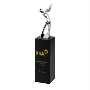 Black Crystal with Metal Golfer Award - AC173