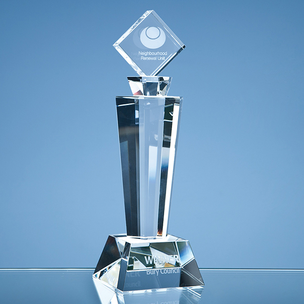 Optical Crystal Mounted Square Award - SY3012