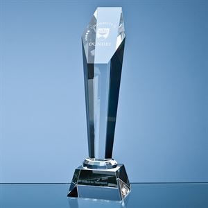 Optical Crystal Hexagon Column Award