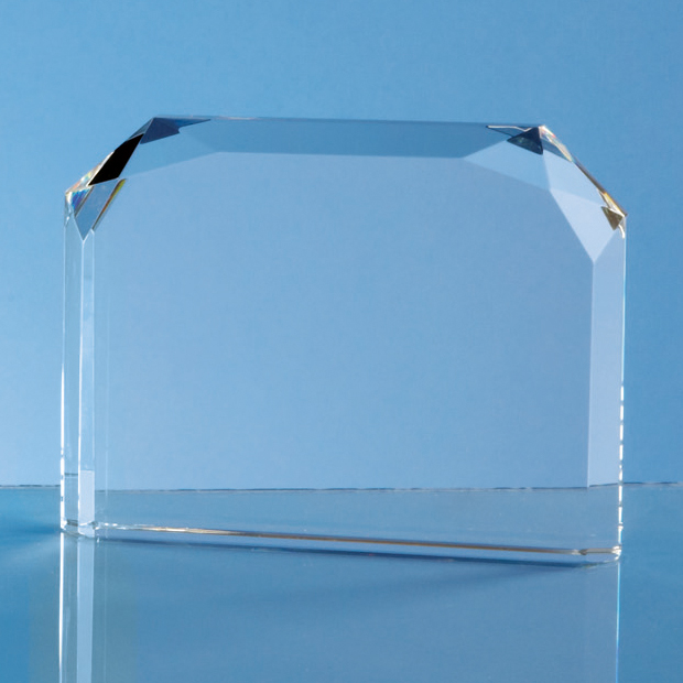 Optical Crystal Horizontal Face Rectangle Award - SY4034