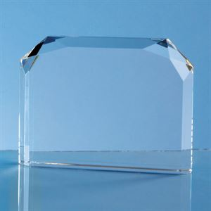 Optical Crystal Horizontal Face Rectangle Award