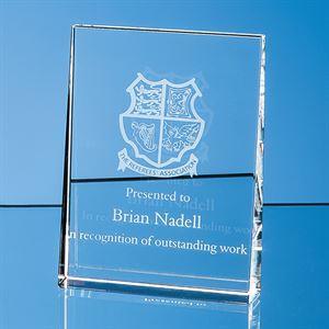 Optical Crystal Vertical Wedge Award