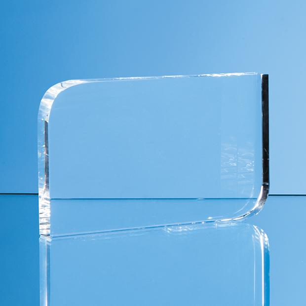 Optical Crystal Curved Rectangle Award - EUR160