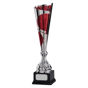 Quest Laser Cut Cup - Silver and Red