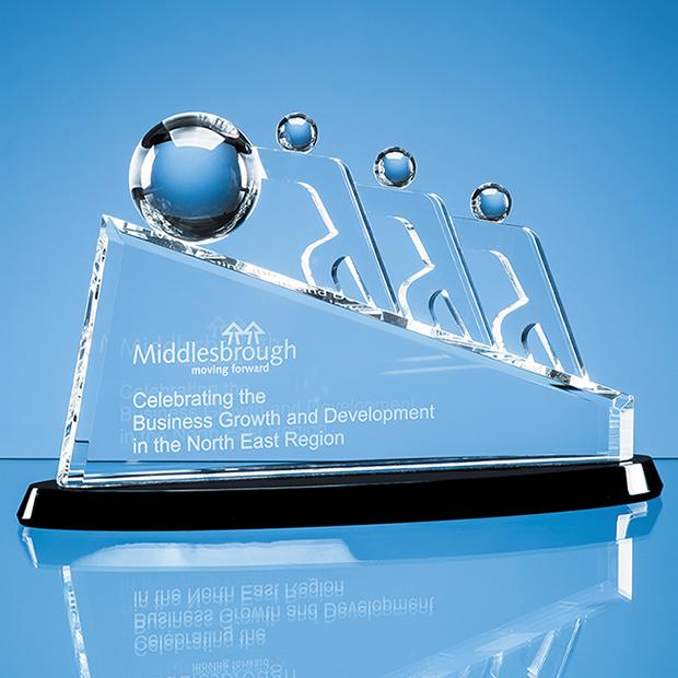 Optical Crystal Sloped Teamwork Award - SY5104