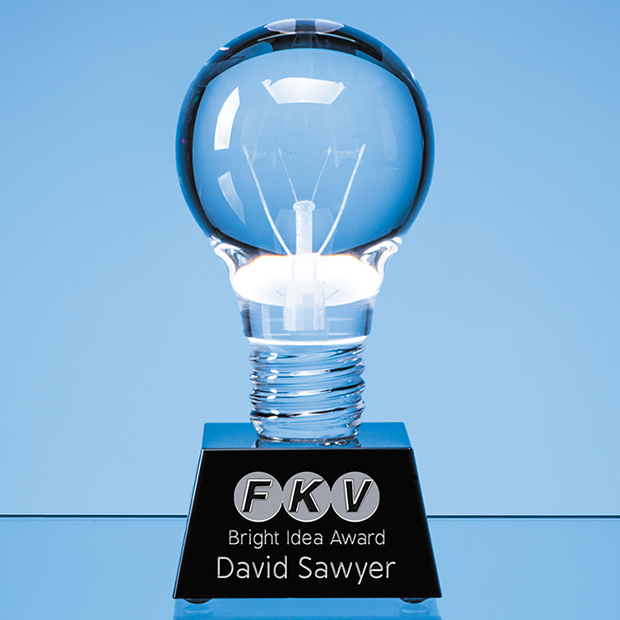 Optical Crystal Lightbulb Award