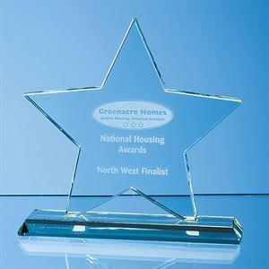 Mounted Jade Glass Star Award