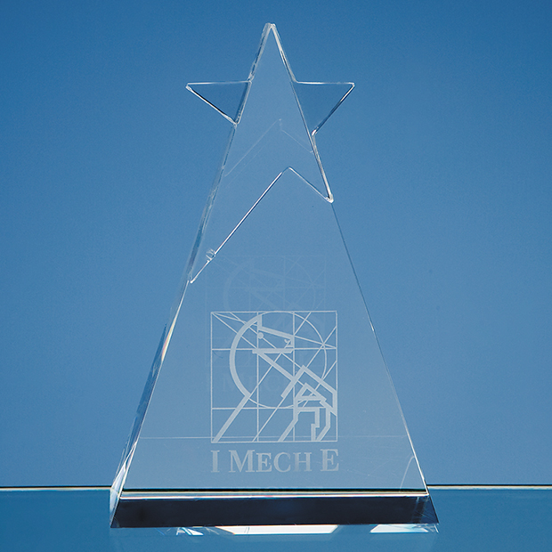 Optical Crystal Star Triangle Award - SY1012