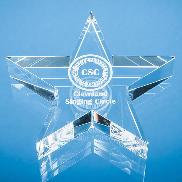Optical Crystal Star Paperweight - SY5117