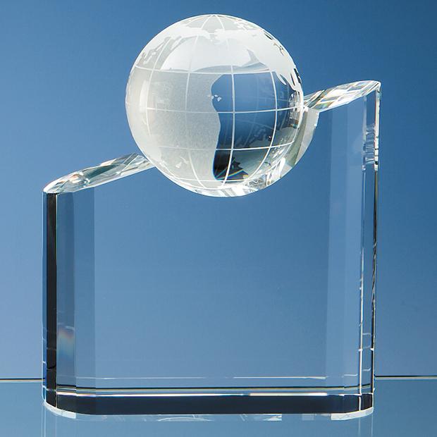 Optical Crystal Globe Mountain Award - SY1063