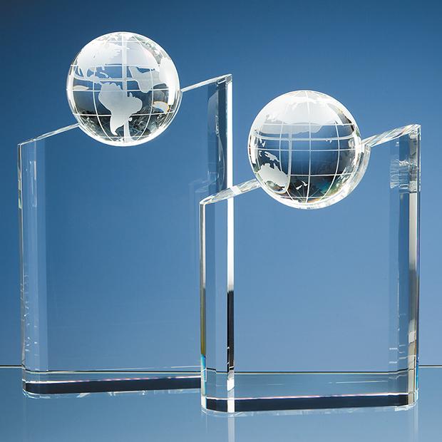 Optical Crystal Globe Mountain Award - SY1064 and SY1065