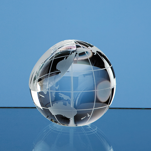 Optical Crystal Globe Paperweight - SY2078