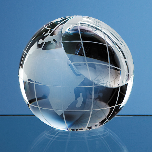 Optical Crystal Globe Paperweight - SY2079