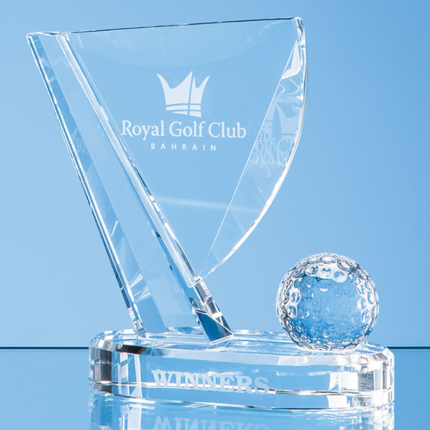 Optical Crystal Golf Ball & Flag Award - EUR101
