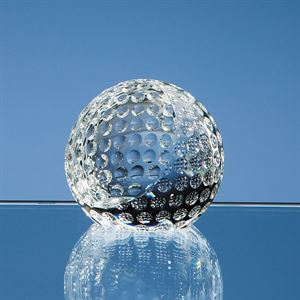 Optical Crystal Golf Ball Paperweight - SY2083