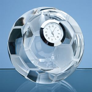 Optical Crystal Football with Clock