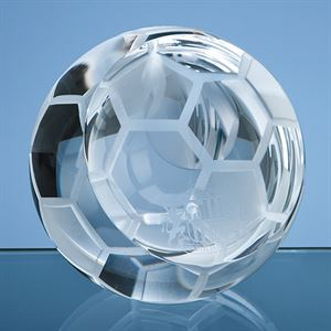 Optical Crystal Football Paperweight - SY5118
