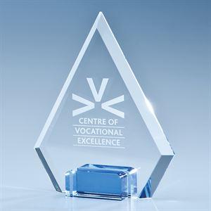 Optical Crystal Diamond with a Cobalt Blue Base