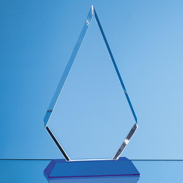 Optical Crystal Facet Diamond Award on an Sapphire Blue Base - SY7036