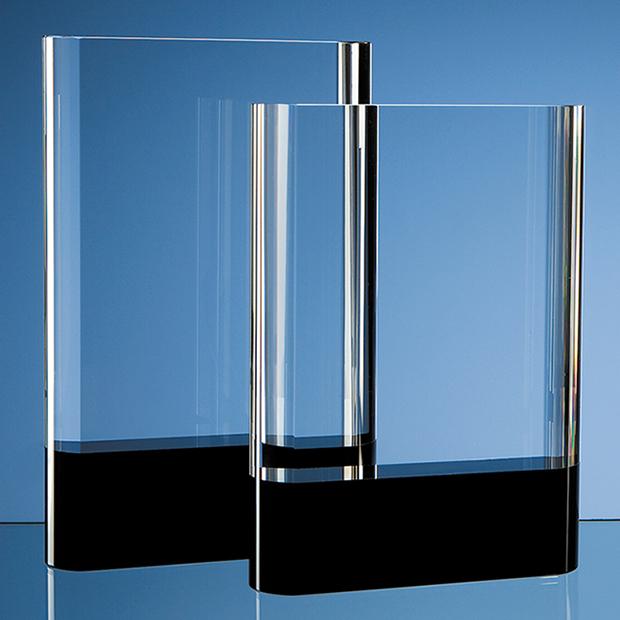 Optical Crystal Rectangle with Onyx Black Base - SY2061