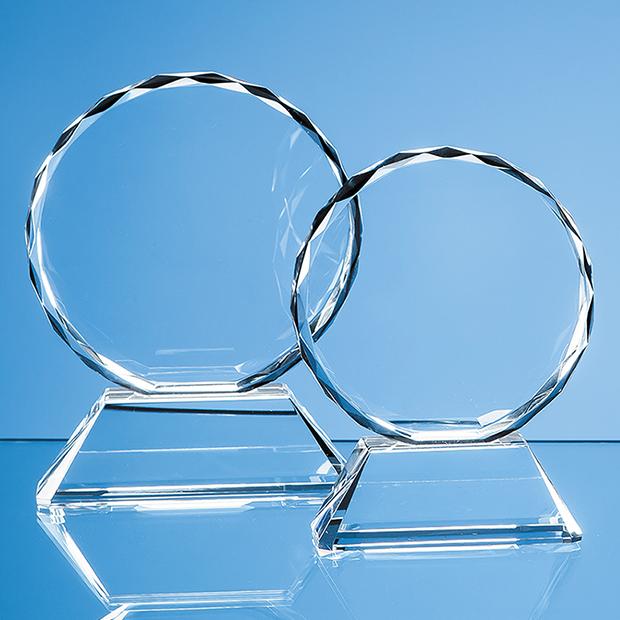 Optical Crystal Mounted Facet Circle Award - EUR16