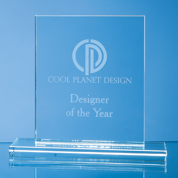 Clear Glass Rectangle Award - SY4073