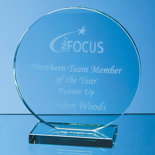 Jade Glass Circle Award - VGJ47112