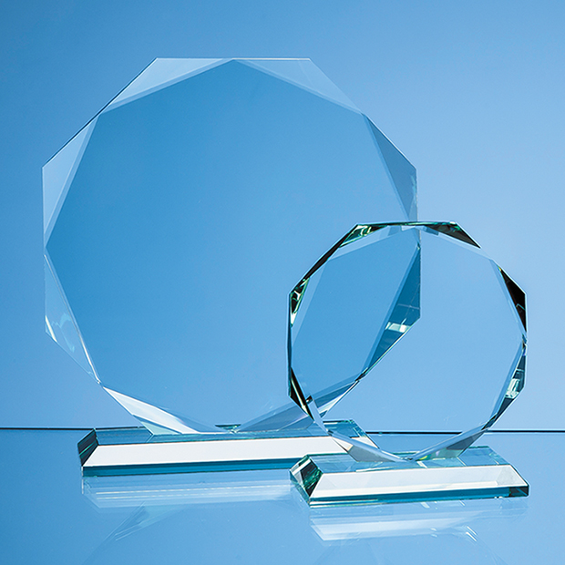 Jade Glass Facetted Octagon Award - R78
