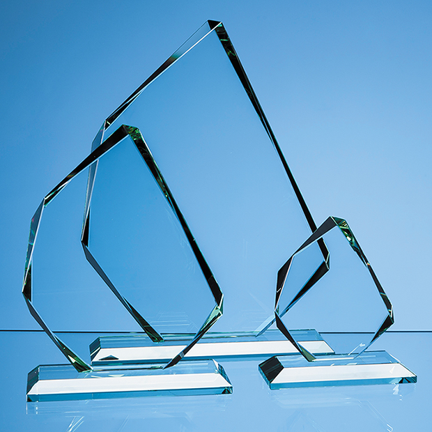 Jade Glass Facetted Ice Peak Award - R66
