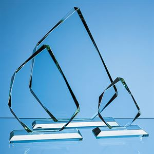 Jade Glass Facetted Ice Peak Award