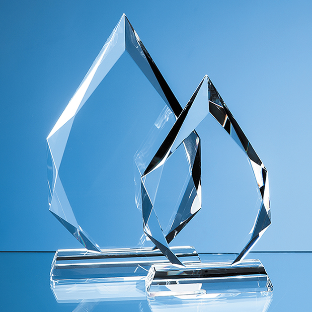 Clear Glass Facetted Diamond Peak Award - EUR43