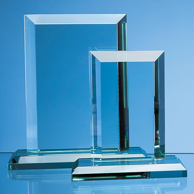Jade Glass Mitred Rectangle Award - VGJ1170