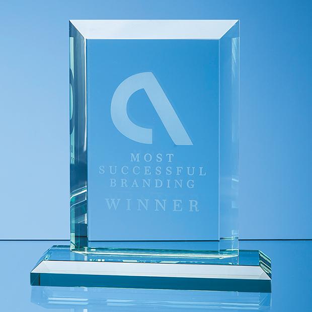 Jade Glass Mitred Rectangle Award - VGJ1171