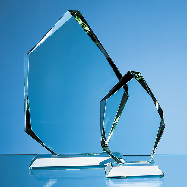 Jade Glass Facetted Ice Peak Award - SY1058