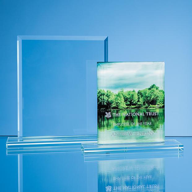 Jade Glass Bevelled Edge Rectangle Award - TL45