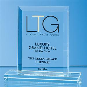 Jade Glass Bevelled Edge Rectangle Award