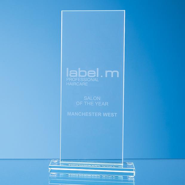 Jade Glass Tall Rectangle Award - TL60