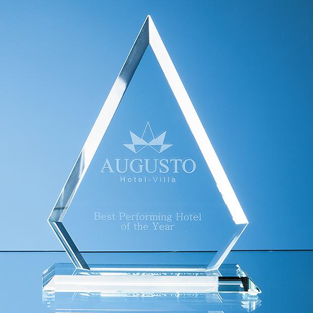 Jade Glass Bevelled Edge Diamond Award - TL38